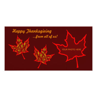 Thanksgiving Leaves Personalized Photo Card