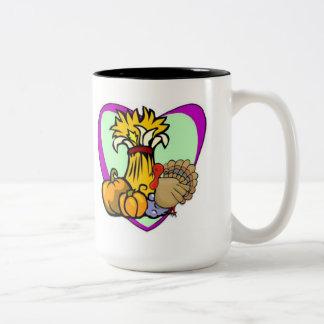 Thanksgiving Love Two-Tone Coffee Mug
