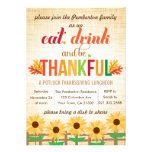 Thanksgiving Lunch Potluck Eat Drink Give Thanks Personalized Announcement