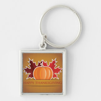 Thanksgiving maple and pumpkin key ring