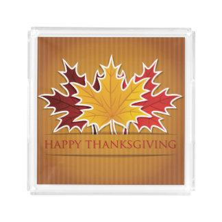 Thanksgiving maple leaf acrylic tray