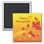 Thanksgiving Maple leaves in fall colours custom Square Magnet