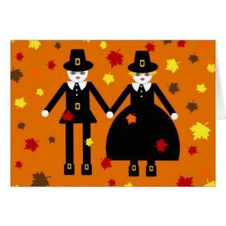 Thanksgiving Martzkin Pilgrim Card © 2012 M. Martz