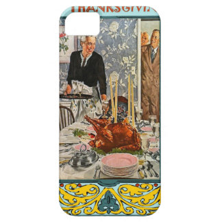 Thanksgiving meal, vintage design barely there iPhone 5 case