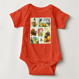 Thanksgiving Medley Vintage Baby Clothes Baby Bodysuit