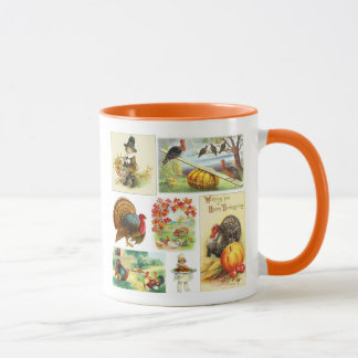 Thanksgiving Medley Vintage Mug