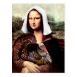 Thanksgiving Mona Lisa Pilgrim Post Cards