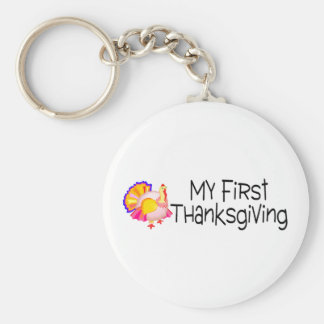 Thanksgiving My First Thanksgiving Basic Round Button Key Ring