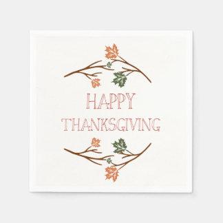Thanksgiving Napkins Paper Serviettes