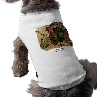 Thanksgiving Oh Oh Sleeveless Dog Shirt