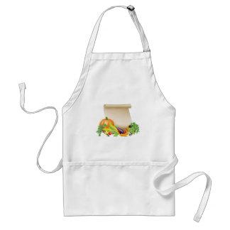 Thanksgiving or fresh produce scroll apron
