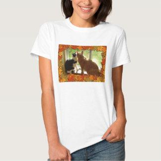 Thanksgiving Orange Tabby Cat Tee Shirt