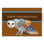 Thanksgiving Owl Card