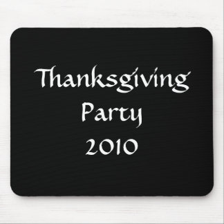 Thanksgiving Party 2010 Stylish Black White Custom Mouse Mat