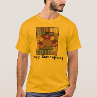 Thanksgiving Patchwork Turkey T-Shirt