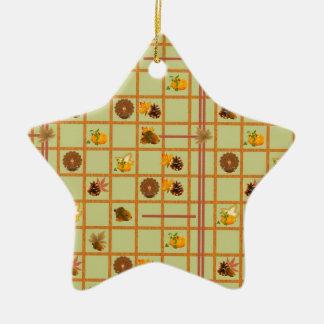 Thanksgiving Pattern Ornament