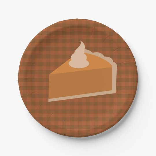 Thanksgiving Pie Paper Plates