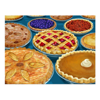 Thanksgiving Pies Postcard