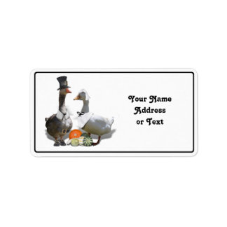 Thanksgiving Pilgrim Ducks Address Label