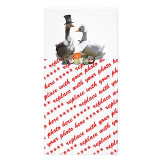 Thanksgiving Pilgrim Ducks Photo Card Template
