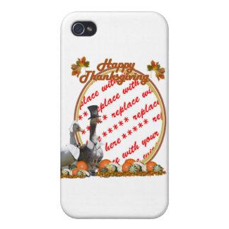 Thanksgiving Pilgrim Ducks Photo Frame Cover For iPhone 4