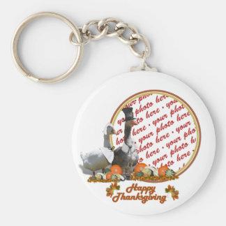 Thanksgiving Pilgrim Ducks Photo Frame Keychains
