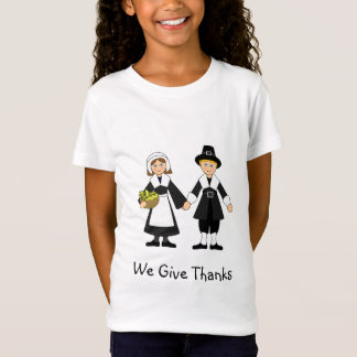 Thanksgiving Pilgrim Girl and Boy T-Shirt