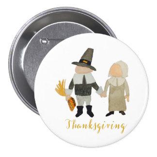 Thanksgiving Pilgrim Puritan Toddler Girl and Boy 7.5 Cm Round Badge