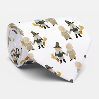 Thanksgiving Pilgrim Toddler Girl and Boy Couple Tie
