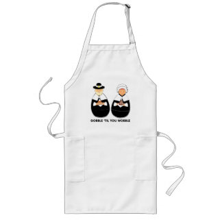Thanksgiving Pilgrims Long Apron