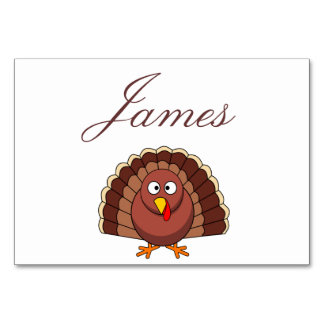 Thanksgiving Place Cards With Turkey