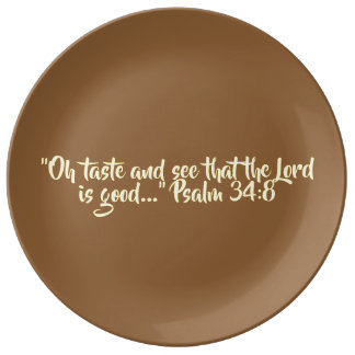 """Thanksgiving Plate Ceramic - """"Oh Taste and See"""""""