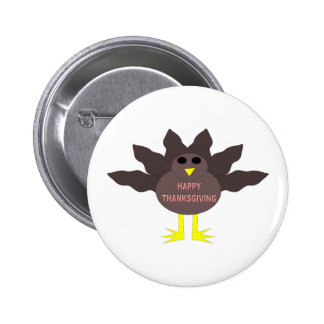 Thanksgiving Plucked Turkey Button