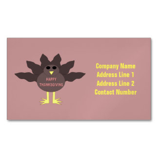 Thanksgiving Plucked Turkey Custom Business Cards Magnetic Business Cards