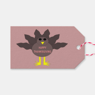 Thanksgiving Plucked Turkey Gift Tags