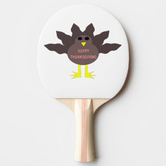 Thanksgiving Plucked Turkey Ping Pong Paddle