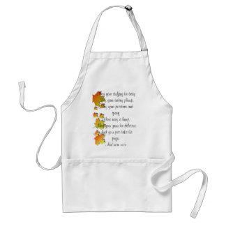 Thanksgiving poem adult apron