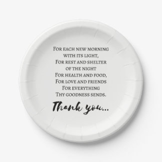 Thanksgiving Poem. Simple Thanksgiving Paper Plate