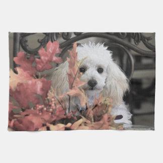 Thanksgiving poodle dog kitchen towel
