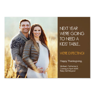 Thanksgiving Pregnancy Announcement Card