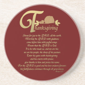 Thanksgiving - Psalm 100 Coasters