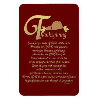 Thanksgiving - Psalm 100 Magnet