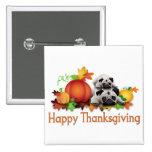 Thanksgiving Pugs and Pumpkins Gifts, Tees Buttons