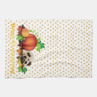 Thanksgiving Pugs and Pumpkins Gifts, Tees Tea Towel