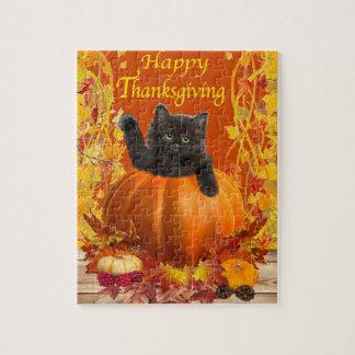 Thanksgiving Pumpkin Kitty Jigsaw Puzzle