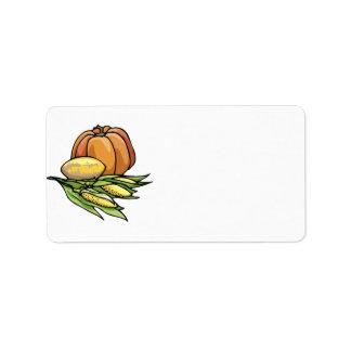 Thanksgiving Pumpkin Address Label
