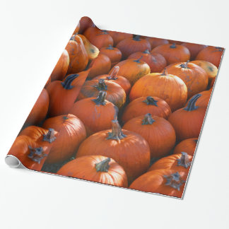Thanksgiving Pumpkin Patch Wrapping Paper