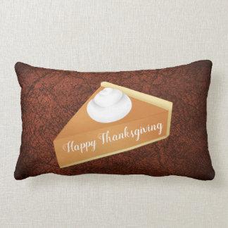 Thanksgiving pumpkin pie lumbar cushion