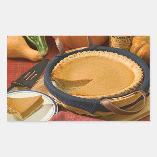 Thanksgiving Pumpkin Pie Rectangular Sticker