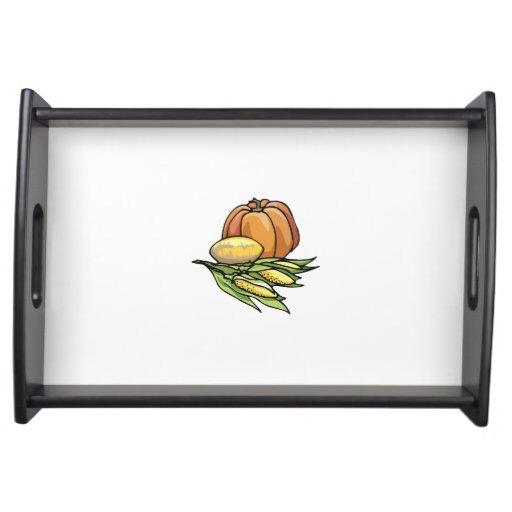 Thanksgiving Pumpkin Service Tray